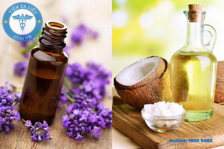 2. Dầu dừa kết hợp với tinh dầu hoa oải hương 1